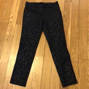 Black leopard Maje straight pants